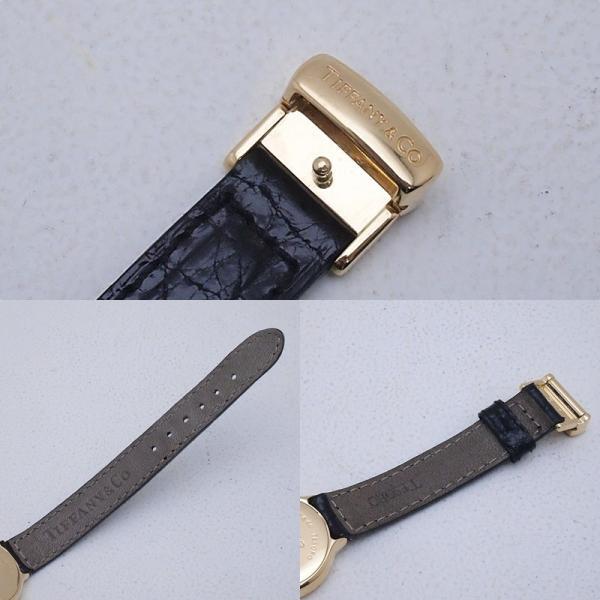 ティファニー Tiffany レディース腕時計 テソロ LQ0130 K18/革 ブラック文字盤 中古 新入荷 おすすめ TI0058 新着|ronde|05