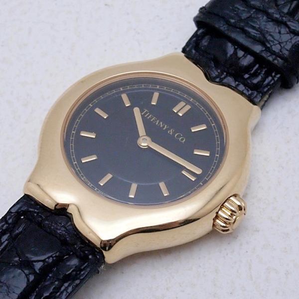 ティファニー Tiffany レディース腕時計 テソロ LQ0130 K18/革 ブラック文字盤 中古 新入荷 おすすめ TI0058 新着|ronde|06