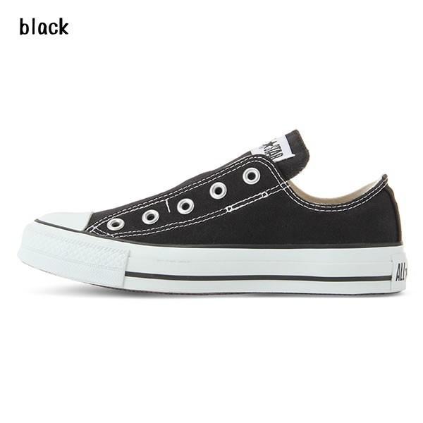 コンバース オールスター スリップ 3 OX 紐なし スリッポン 黒 ブラック ホワイト ネコポス不可|rondel-black|04