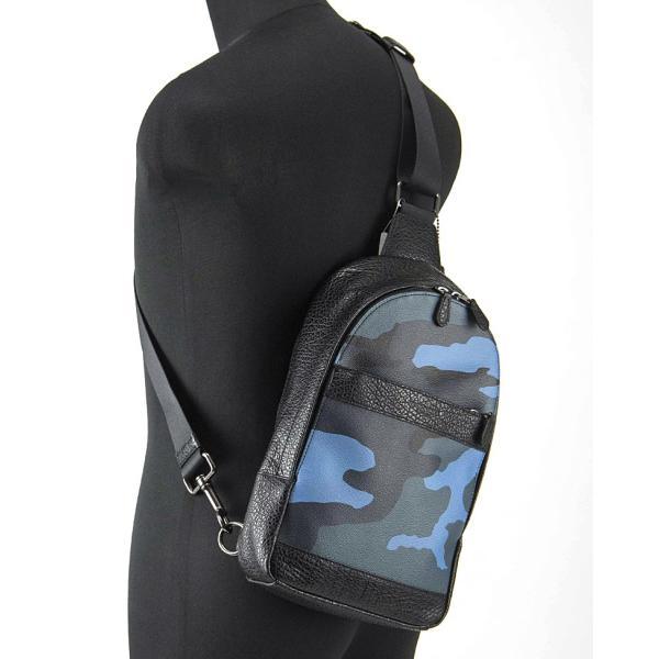 コーチ スリング バッグ COACH アウトレット メンズ チャールズ パック カモフラージュ PVCレザー ボディー (肩掛け)【F29714】/ダスクマルチ