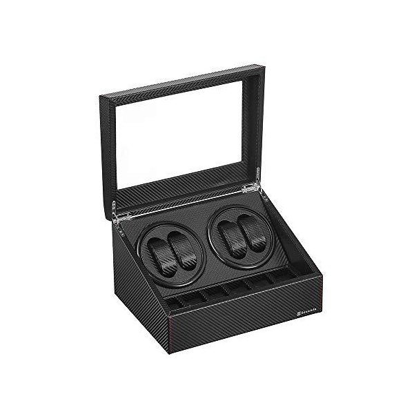 令和最新版 ワインディングマシーン(4本巻き+6本収納)ウォッチワインダー自動巻き時計ワインディングマシーン日本製マブチモータ