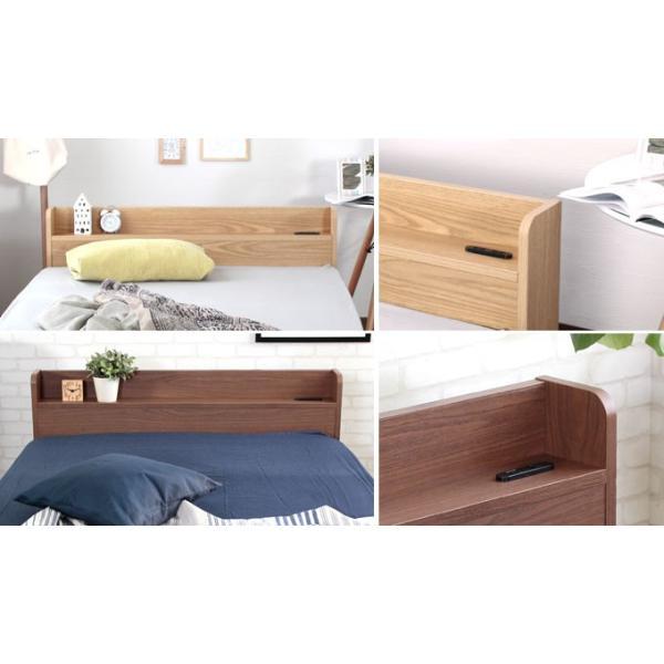ベッド ダブルベッド ベッドフレーム 収納付きベッド コンセント付き 木製 エミー|room-cr|02