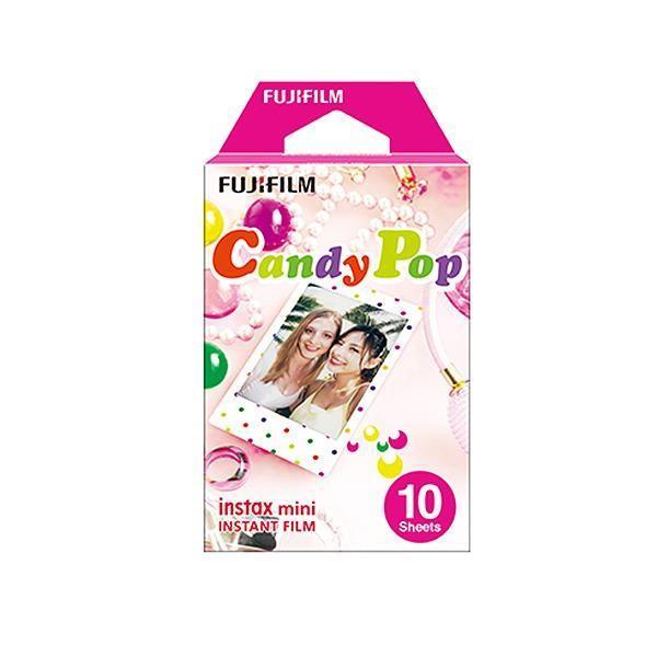 FUJIFILM instax mini チェキ用フィルム 絵柄入りフレームタイプ キャンディポップ 10枚入