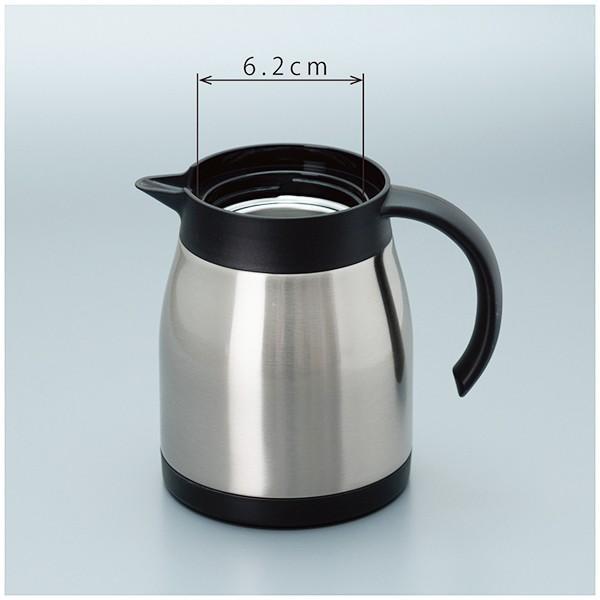 ステンレス カフェサーバー 0.8L 2〜6杯用 コーヒーサーバー 保温 (アトラス)シルバー ブラック ACS-800|roomdesign|07