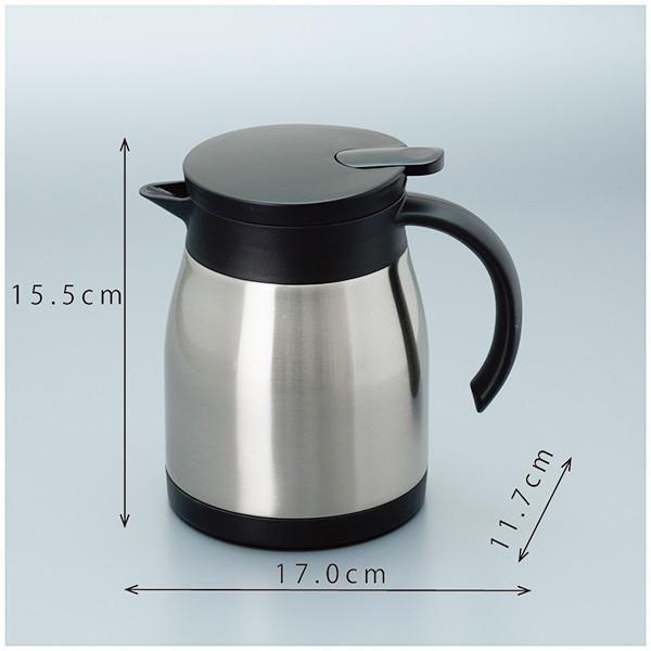ステンレス カフェサーバー 0.8L 2〜6杯用 コーヒーサーバー 保温 (アトラス)シルバー ブラック ACS-800|roomdesign|08