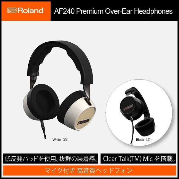 オーバーイヤーヘッドホン Roland AUDIOFLY AF2401-1 マイク付き 高音質ヘッドフォン