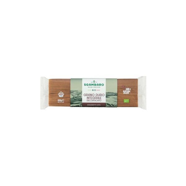スガンバロ オーガニックスパゲッティ(全粒粉) 500g 16セット 092014(同梱・代引き不可)