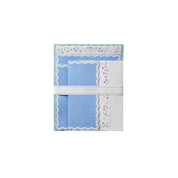 クリエイトジー ダイカットレターセット 花柄 ブルー×ホワイト CGL135R 6セット(同梱・代引き不可)