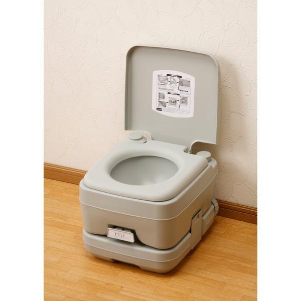 ポータブル 水洗 トイレ 本格派 寝室 介護用 非常用 水洗式 10L マリン商事 SE-70030 エマージェンシー emergency|roomdesign|02