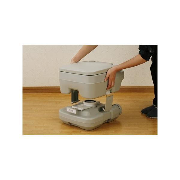 ポータブル 水洗 トイレ 本格派 寝室 介護用 非常用 水洗式 10L マリン商事 SE-70030 エマージェンシー emergency|roomdesign|04