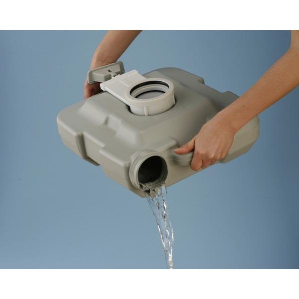 ポータブル 水洗 トイレ 本格派 寝室 介護用 非常用 水洗式 10L マリン商事 SE-70030 エマージェンシー emergency|roomdesign|05