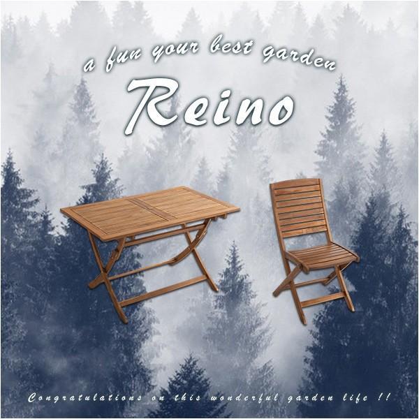 折りたたみガーデンテーブル・チェア(5点セット)人気のアカシア材、パラソル使用可能 | reino-レイノ- 代引不可