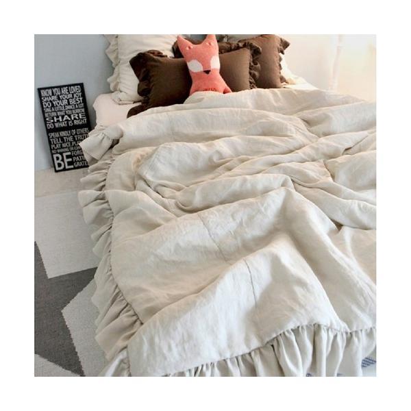 【S】シャビーシックスタイル シンプルフリル コットン ベッドカバー 3点セット|roomfort|02