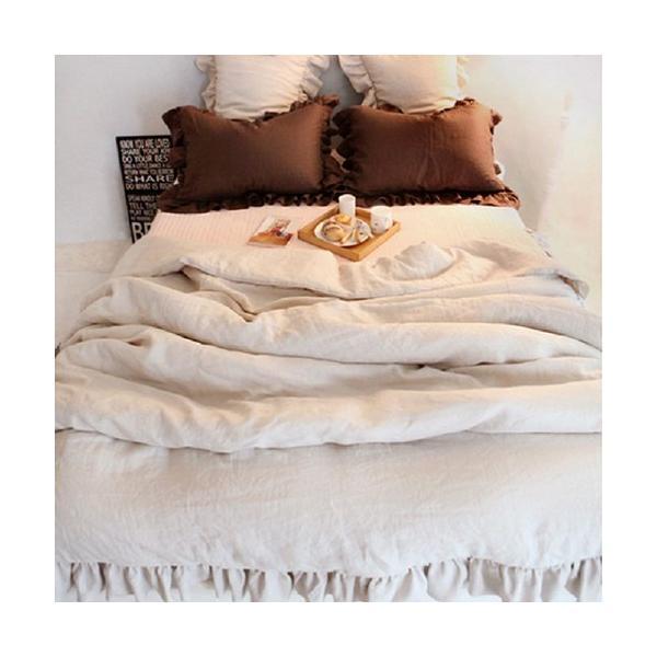 【S】シャビーシックスタイル シンプルフリル コットン ベッドカバー 3点セット|roomfort|04