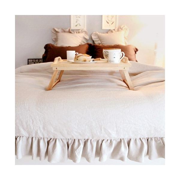 【S】シャビーシックスタイル シンプルフリル コットン ベッドカバー 3点セット|roomfort|05