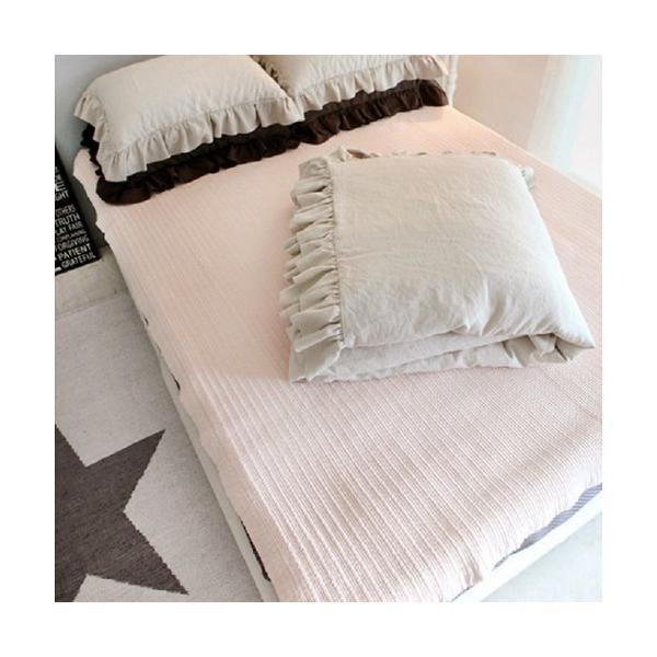 【S】シャビーシックスタイル シンプルフリル コットン ベッドカバー 3点セット|roomfort|06