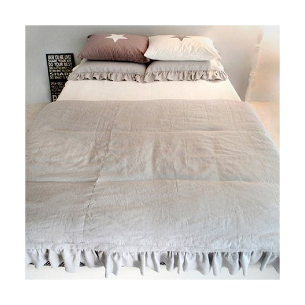 【S】シャビーシックスタイル シンプルフリル コットン ベッドカバー 3点セット|roomfort|07
