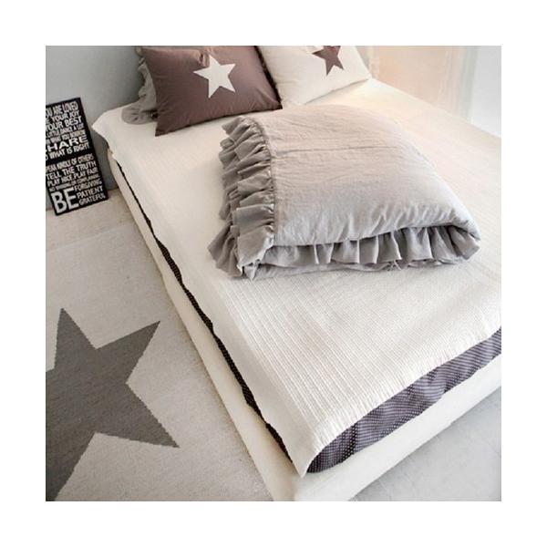 【S】シャビーシックスタイル シンプルフリル コットン ベッドカバー 3点セット|roomfort|08