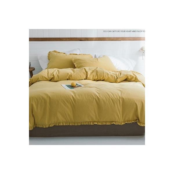 【S】カラー豊富☆ ショートギャザーフリル コットン ベッドカバー 3点セット|roomfort