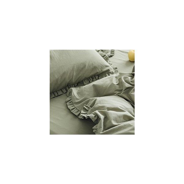 【S】カラー豊富☆ ショートギャザーフリル コットン ベッドカバー 3点セット|roomfort|12