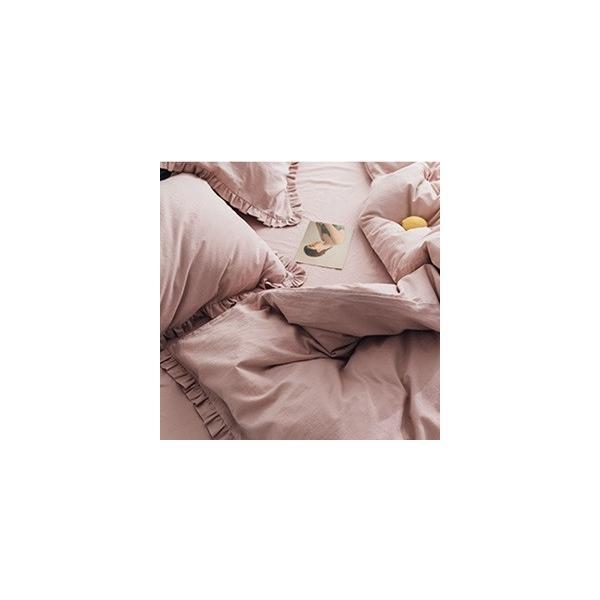 【S】カラー豊富☆ ショートギャザーフリル コットン ベッドカバー 3点セット|roomfort|05