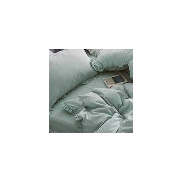 【S】カラー豊富☆ ショートギャザーフリル コットン ベッドカバー 3点セット|roomfort|08