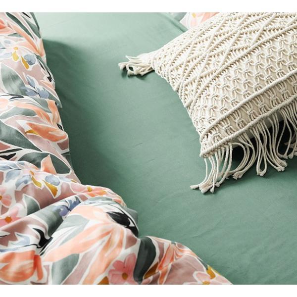 【SD/D/Q】ラグジュアリーな水彩花柄プリント コットン ベッドカバー4点セット|roomfort|05