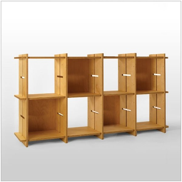?GIUNTA ジュンタ 2×4 デザイナーズ ブランド シンプル北欧モダン 組立式シェルフ 本棚間仕切り棚 両面使い可能|roomnext|01