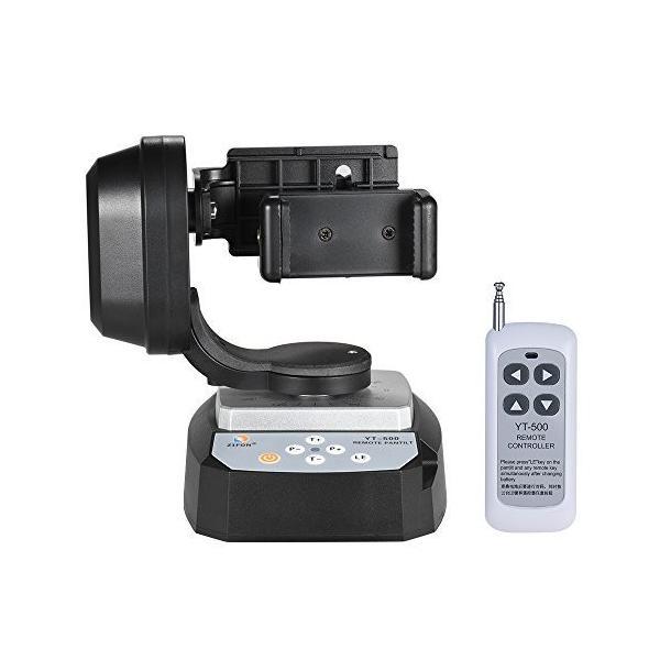 Andoer YT-500 パンチルト 電動雲台 リモコン制御回転 ビデオ雲台 最大荷重500g ?電話ホルダー付き iPhone 7 7 Plus 6 6 Pl