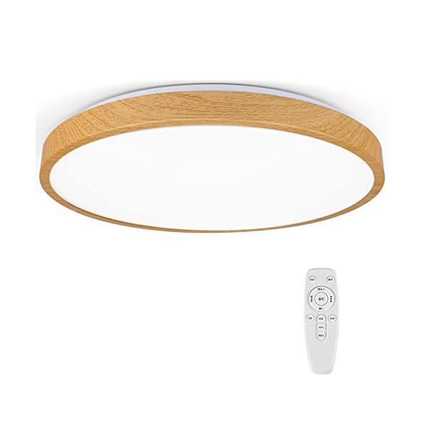 OOWOLF『LED シーリングライト 木目調 調光タイプ』