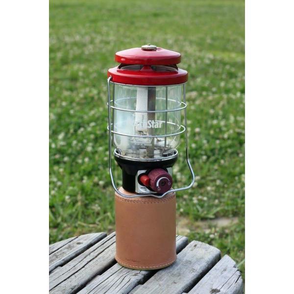 ガス缶 OD缶 カバー レザー 本革 500サイズ ケース 茶紐|roostoutdoors|02