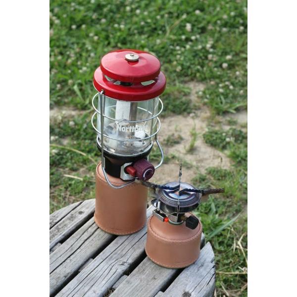 ガス缶 OD缶 カバー レザー 本革 500サイズ ケース 茶紐|roostoutdoors|03