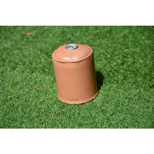ガス缶 OD缶 カバー レザー 本革 500サイズ ケース 茶紐|roostoutdoors|04