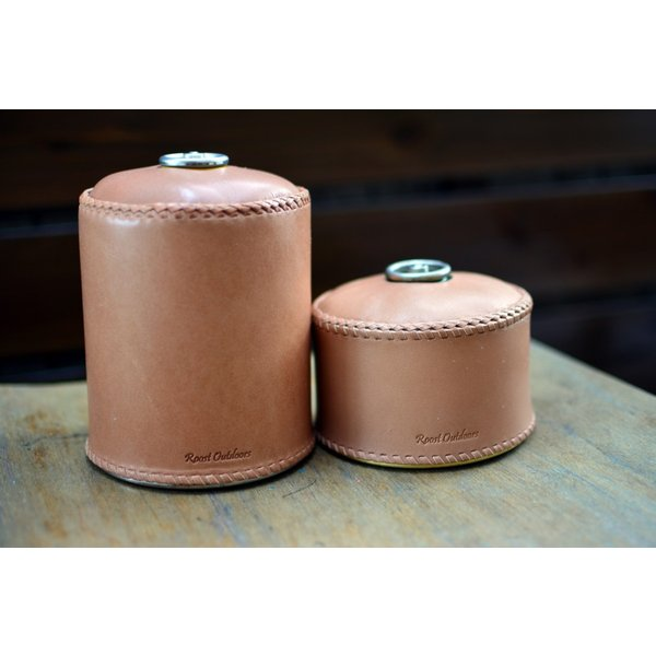 ガス缶 OD缶 カバー レザー 本革 500サイズ ケース 茶紐|roostoutdoors|06