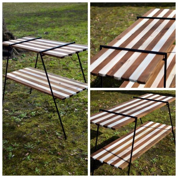 Iron Leg Rolltop Shelf(アイアンレッグロールトップシェルフ、ウッドラック)|roostoutdoors|02