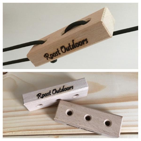 ガイロープテンショナー(木製自在金具)2個|roostoutdoors