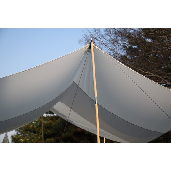 """Striped"" TC Tarp Type2(400x400 ポリコットンタープ) Light Gray