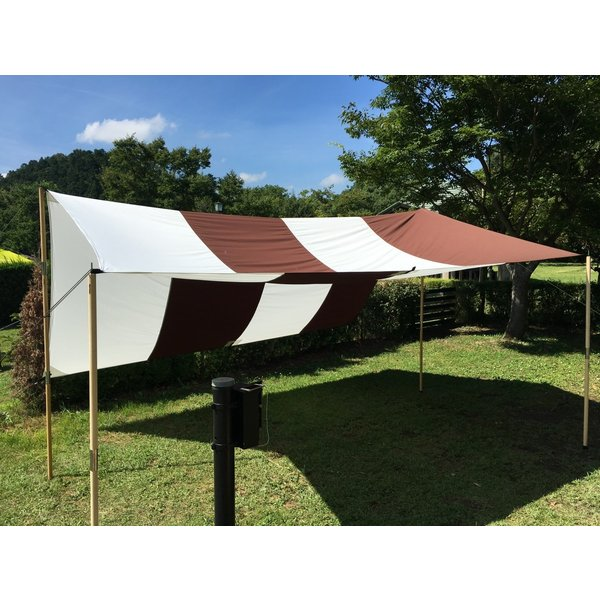 """Striped"" TC Tarp Type2(400x400 ポリコットンタープ) Dark Brown