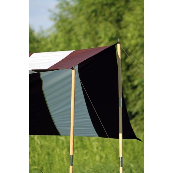 """Striped"" TC Tarp Type1(300x300 ポリコットンタープ)Dark Brown|roostoutdoors|03"