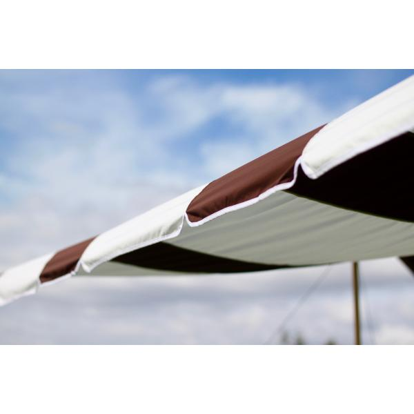 """Valance"" TC Tarp Type2(400x400 ポリコットンタープ) Dark Brown|roostoutdoors|02"