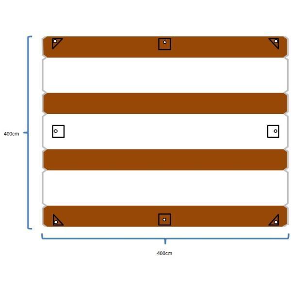 """Valance"" TC Tarp Type2(400x400 ポリコットンタープ) Dark Brown|roostoutdoors|05"
