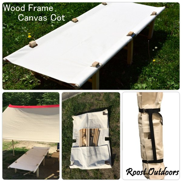 Wood Frame Canvas Cot(ウッド・フレーム・キャンバス・コット) |roostoutdoors|02