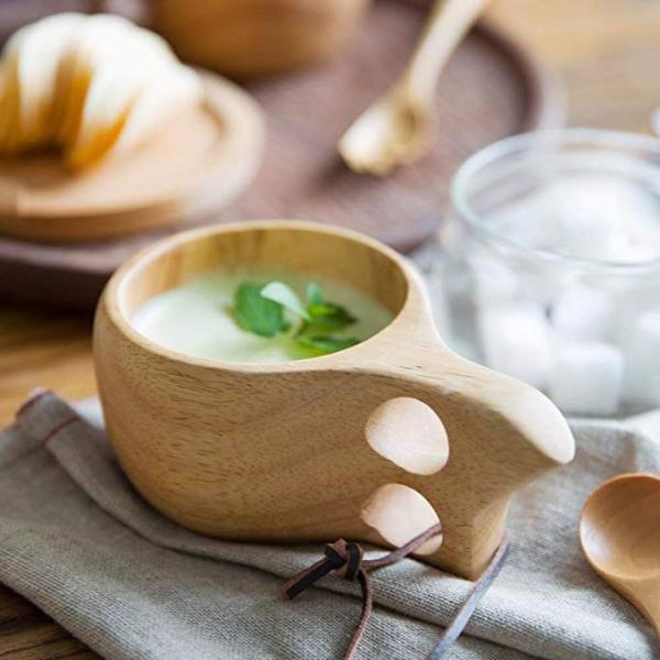 【食品衛生法検査済】 KUKSA ククサ 木製カップ 木のマグカップ 200cc 北欧 箱付き コーヒー スープ ラバーウッド ナチュラル roostoutdoors 02