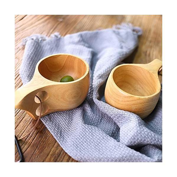 【食品衛生法検査済】 KUKSA ククサ 木製カップ 木のマグカップ 200cc 北欧 箱付き コーヒー スープ ラバーウッド ナチュラル roostoutdoors 03