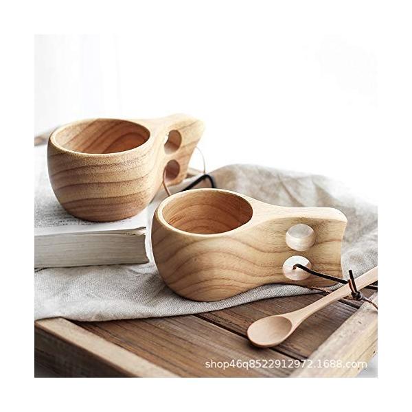 【食品衛生法検査済】 KUKSA ククサ 木製カップ 木のマグカップ 200cc 北欧 箱付き コーヒー スープ ラバーウッド ナチュラル roostoutdoors 06