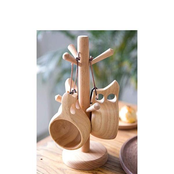 【食品衛生法検査済】 KUKSA ククサ 木製カップ 木のマグカップ 200cc 北欧 箱付き コーヒー スープ ラバーウッド ナチュラル roostoutdoors 07