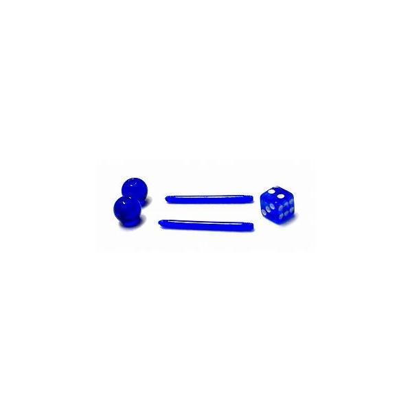 ボディピアス 14G インダストリアル アクリルPTFE サイコロ(ボディーピアス)(1個売り)(オマケ革命)