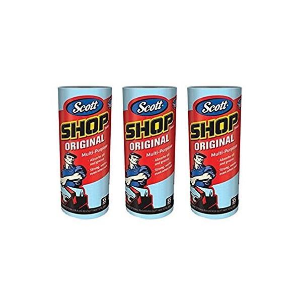 Scott (スコット) SHOP TOWELS / ショップタオル ブルーロール 55枚 3ロールセット rora2020