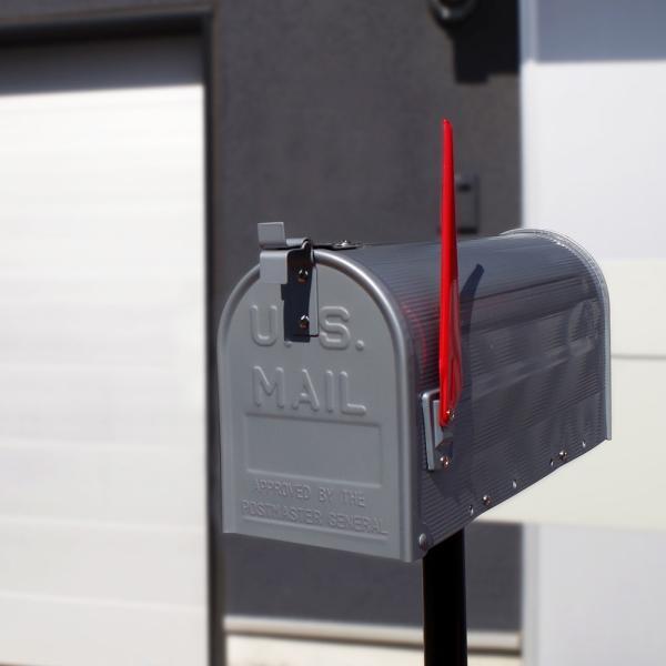 郵便受け 海外 アメリカンポスト スチール製 ポール付 STEEL RURAL MAIL BOX  スタンドメールボックス ポスト 西海岸風 インテリア アメリカン雑貨|rose-bowl