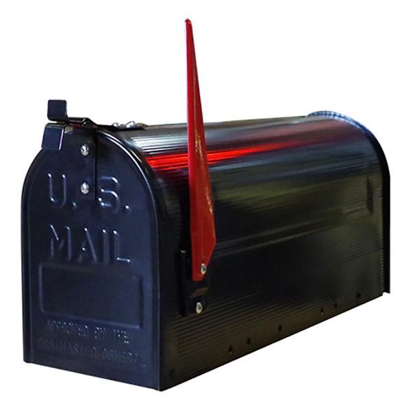 郵便受け 海外 アメリカンポスト スチール製 ポール付 STEEL RURAL MAIL BOX  スタンドメールボックス ポスト 西海岸風 インテリア アメリカン雑貨|rose-bowl|02